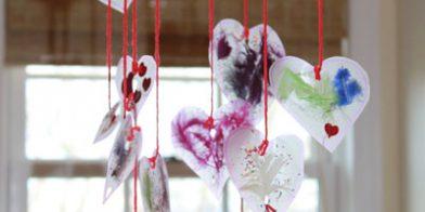 Love is in the air. knutselen met kleuters