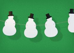 sneeuwman knutselen