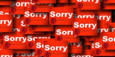 Sorry is een werkwoord