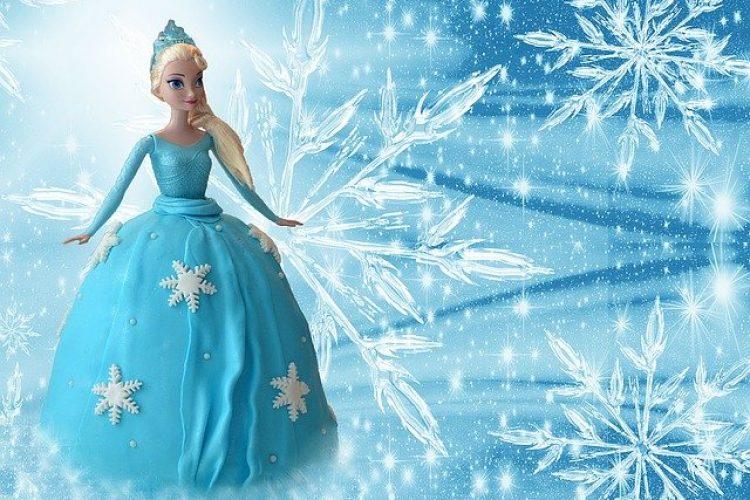 In je Elsa jurk naar school?