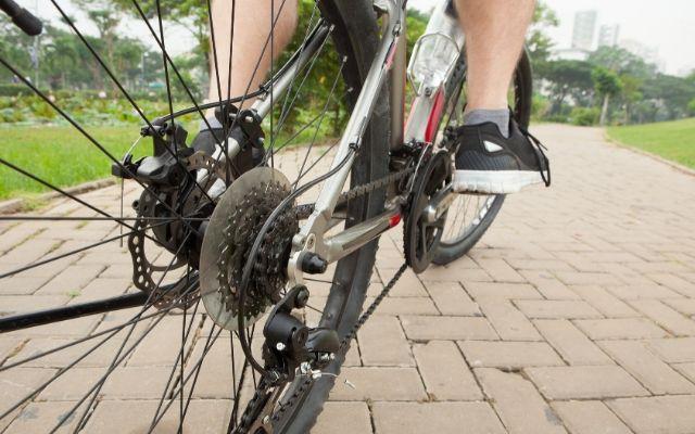 fietsende juf