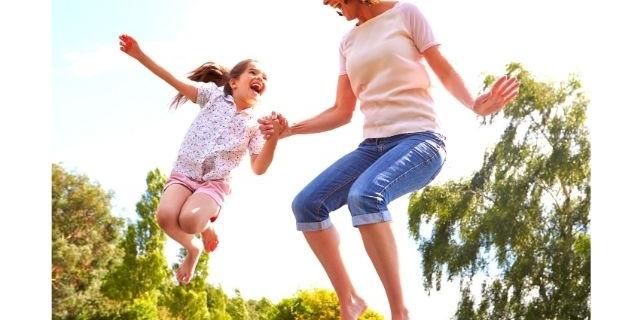trampoline springen